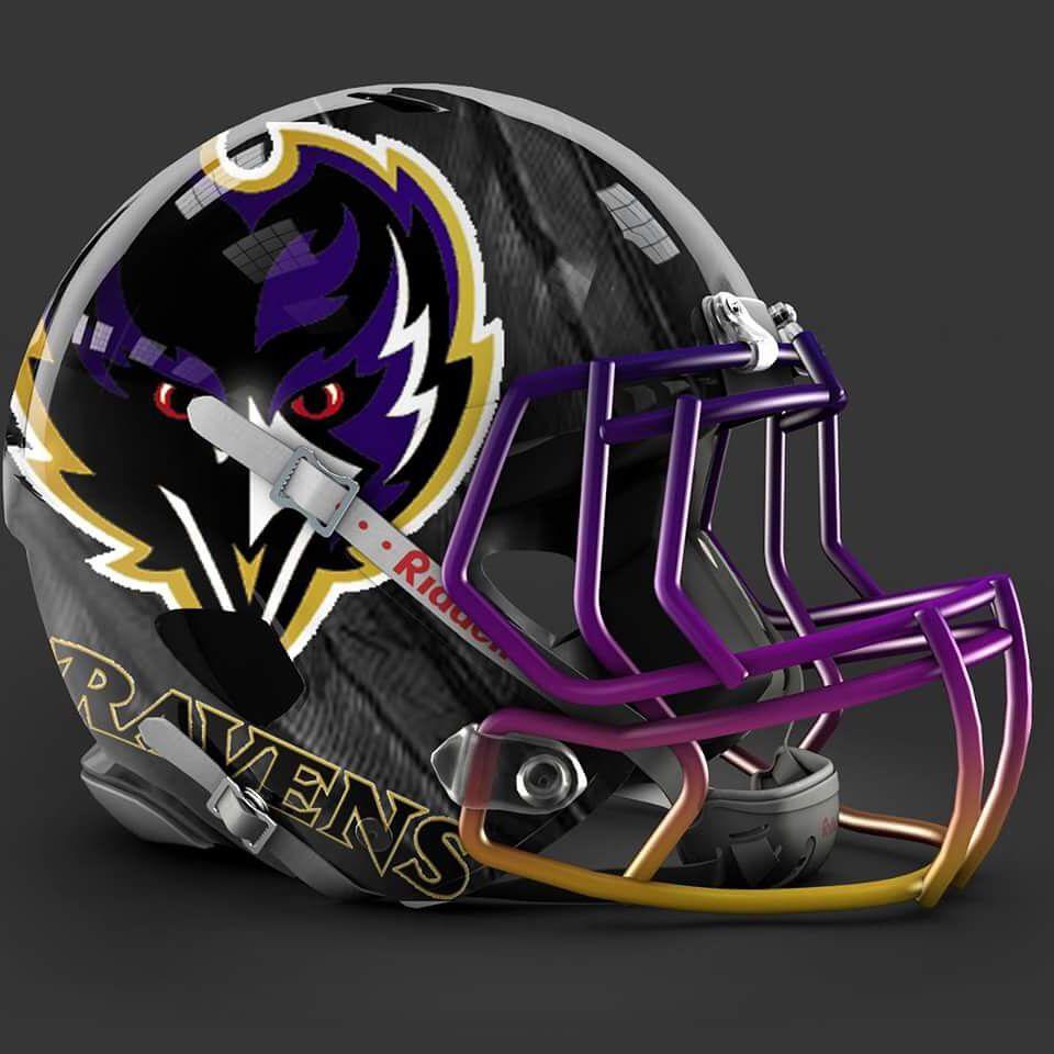 5d937ab4412 Baltimore Ravens alt helmet design Cool Football Helmets, Football Helmet  Design, Nfl Football Players
