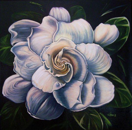 Gardenia Flower Painting Gardenia Flower Painting in 2019