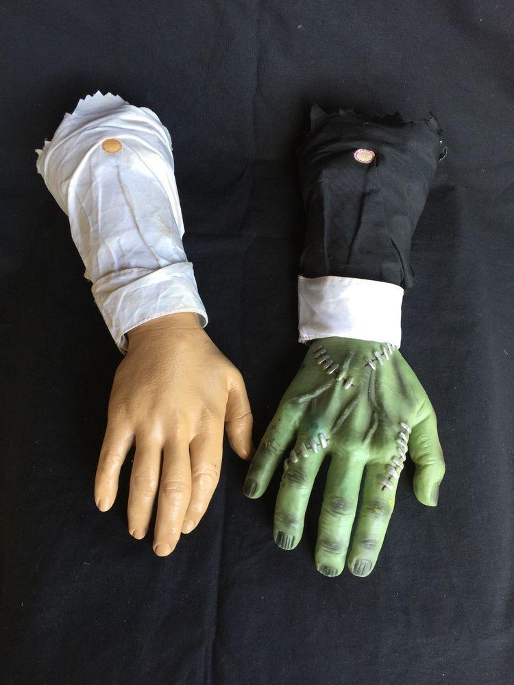 2 crawling hands halloween decorations props frankenstein