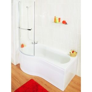 Wickes Shower Baths wickes misa compact shower bath left hand white 1500mm | lionel road