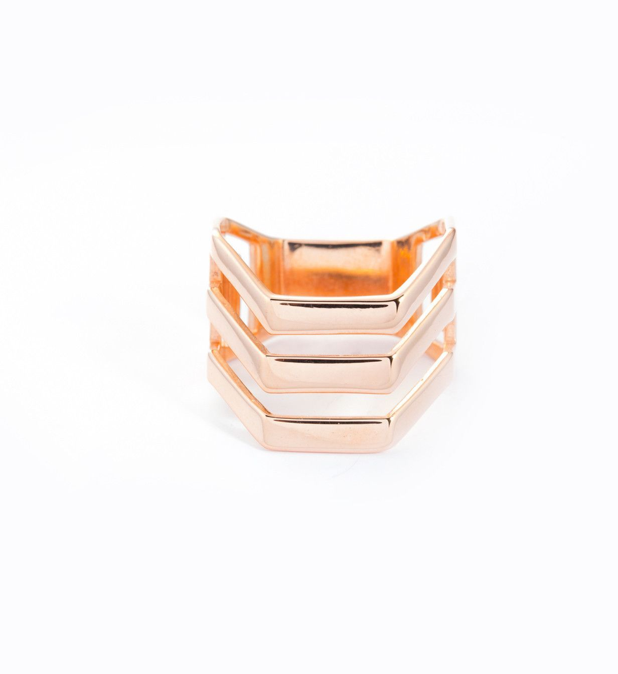 Rose Gold Trinity Ring