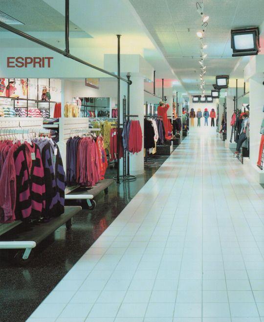 1980s Store Designs Esprit Vintage Mall Shop Interiors Retro Interior