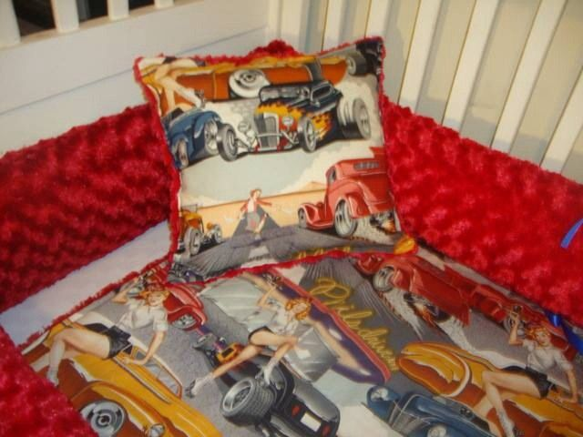 Custom Route 66 Pinup Hot Rod Vintage Cars By Sewunexpectedthreads, $300.00