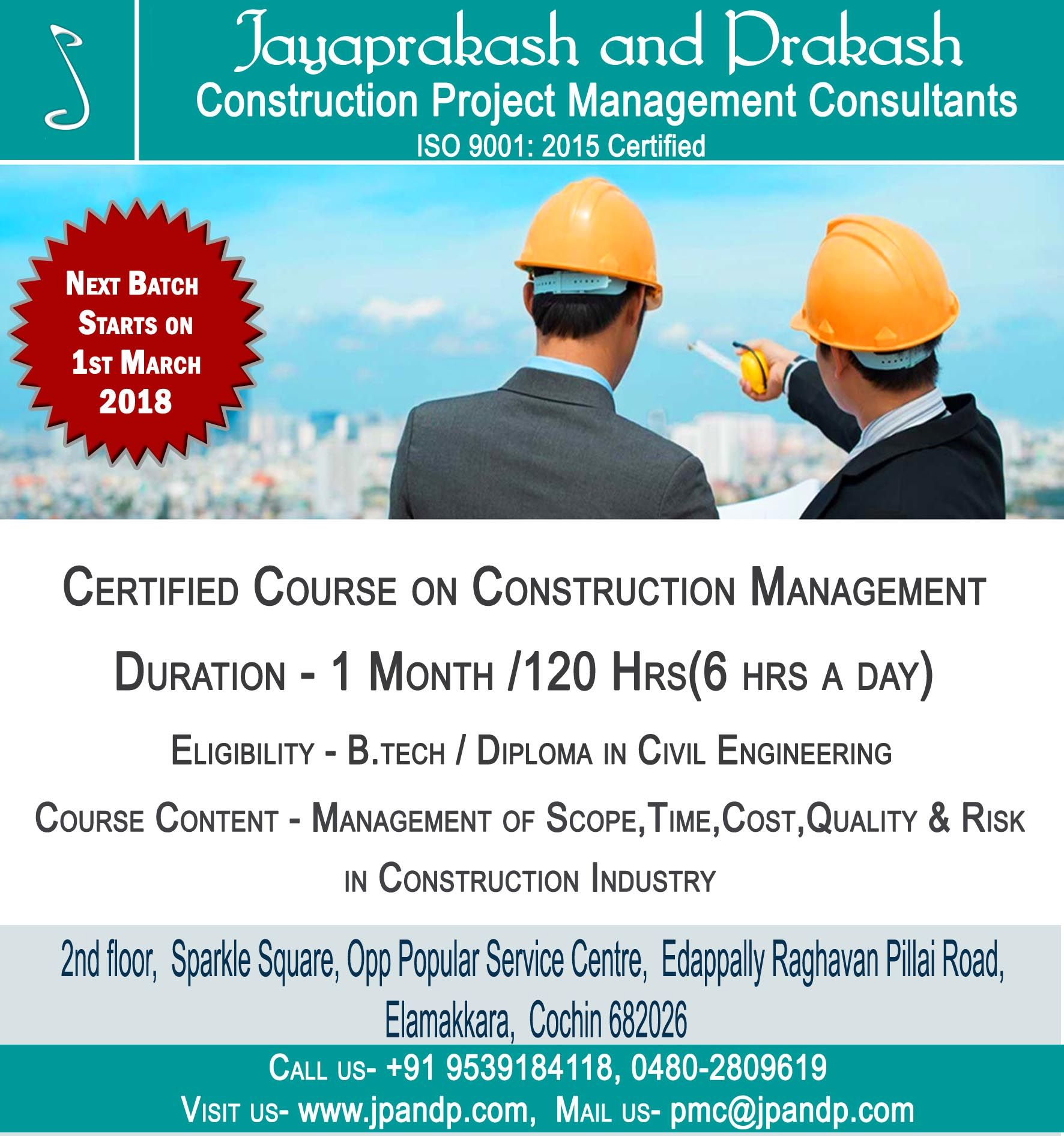 1 Month Certified Course To Be An Industry Ready Construction