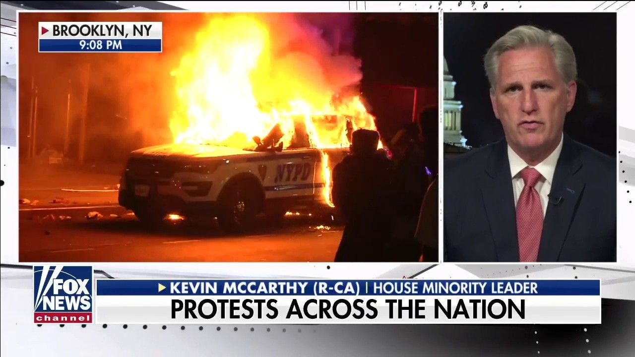 Fox News Rep Kevin Mccarthy Says Only Peaceful Protests Honor George Floyd S Memory In 2020 Peaceful Protest Kevin Mccarthy Minority Leader
