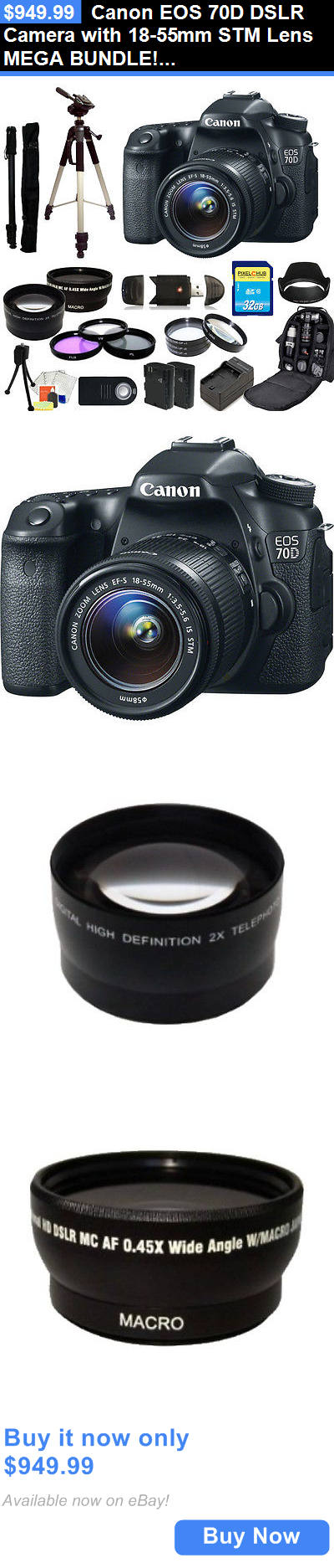 photo and video Canon Eos 70D Dslr Camera With 1855Mm Stm Lens