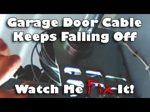 Repair Tangled Jammed Garage Door Wire Cable That Fell Off Drum