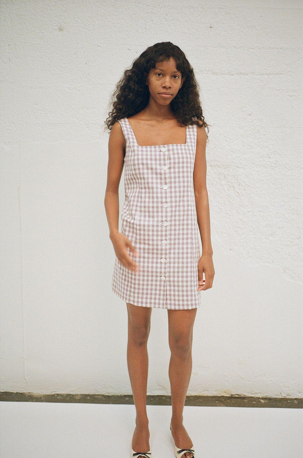 Gingham Dress Square Neck Dress Dress Dusty Fashion Blogger Style Inspiration