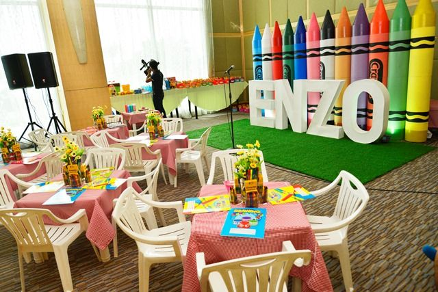 Enzo S Crayon Themed Party 1st Birthday Party Themes 1st Birthday 1st Birthday Parties