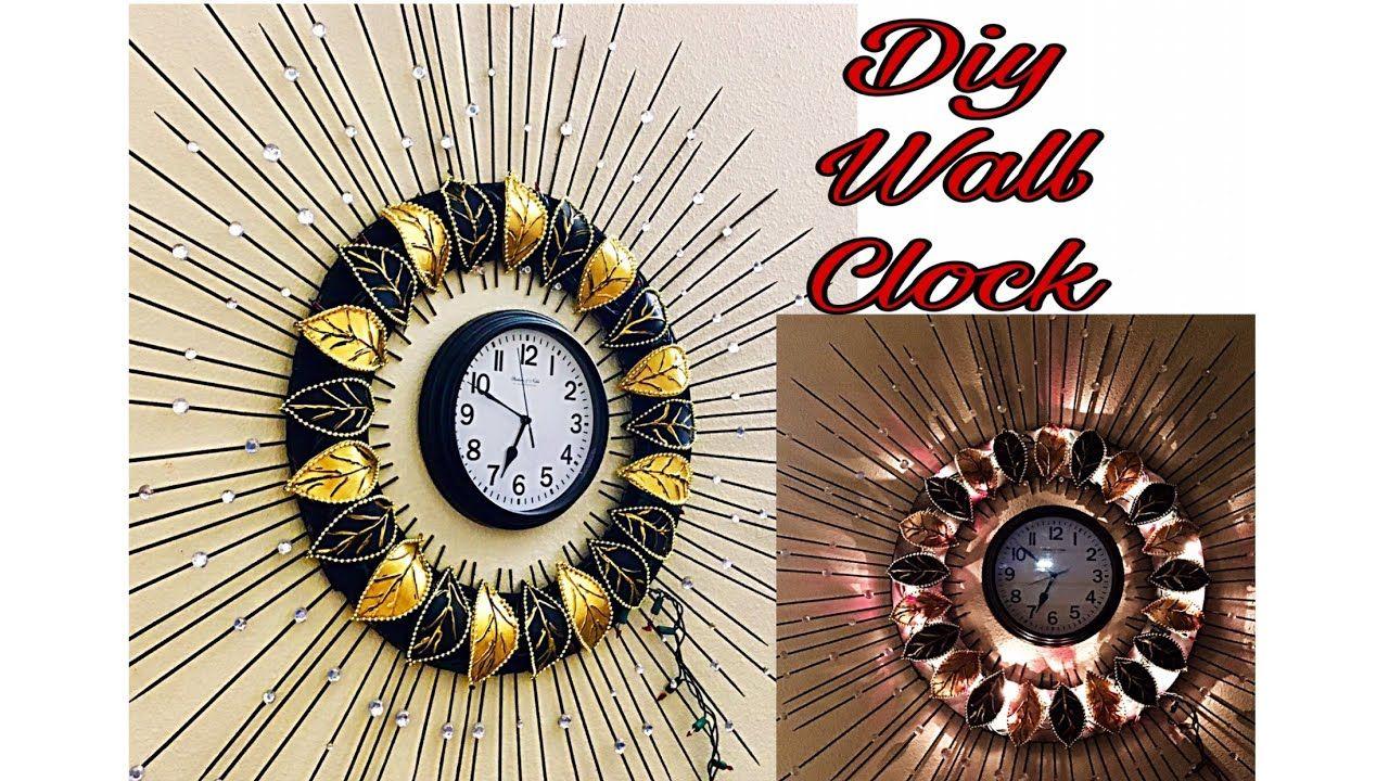 Diy Floral Designer Wall Clock Diy Wall Clock Wall Decoration Idea Fashion Pixies Youtube Clock Wall Decor Diy Clock Wall Wall Clock Design