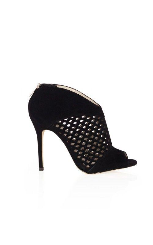 2b5f86810c Karen Millen Laser Cut Shoe Boots | Footwear | Karen Millen Holiday ...