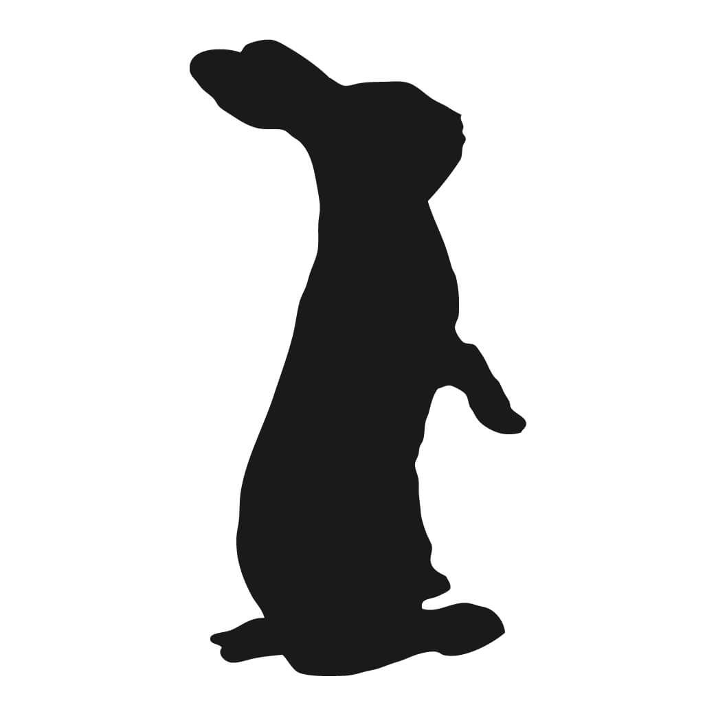 Free Bunny Silhouette Printable