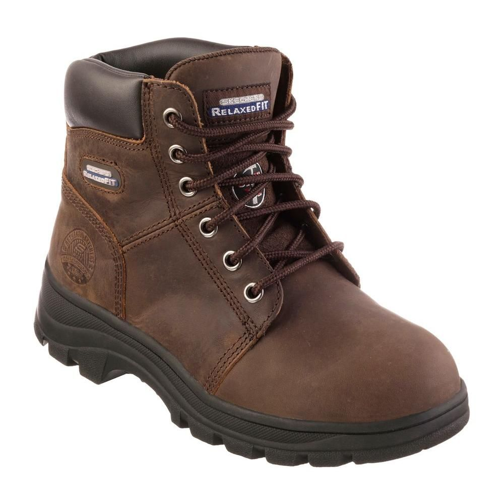 Work Boots - Steel Toe - Dark Brown