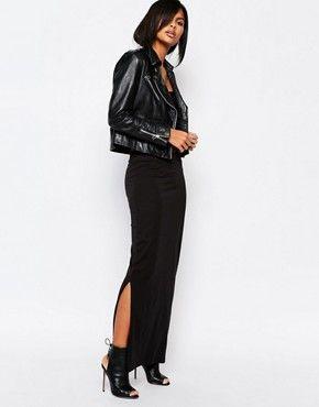 56d22db6bc Vero Moda Jersey Maxi Skirt | Black on Black | Jersey maxi skirts ...