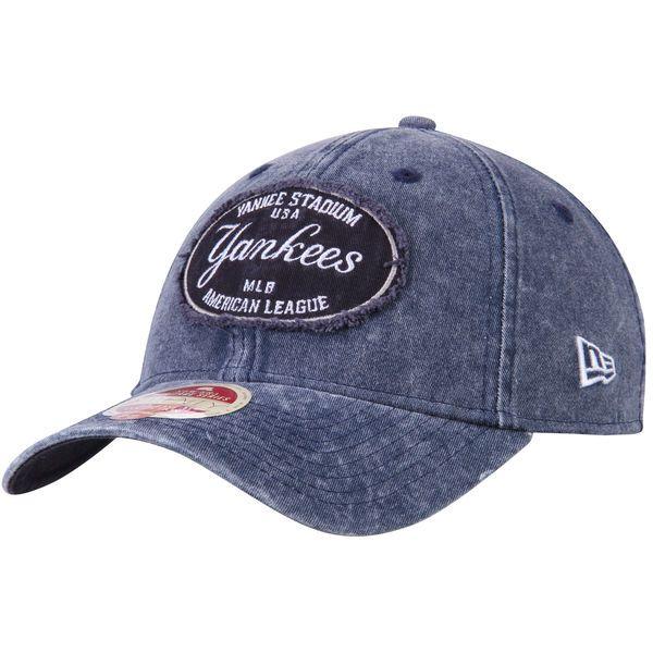 1a6f0c88f20 Men s New York Yankees New Era Heathered Navy American League East Stadium  9TWENTY Adjustable Hat