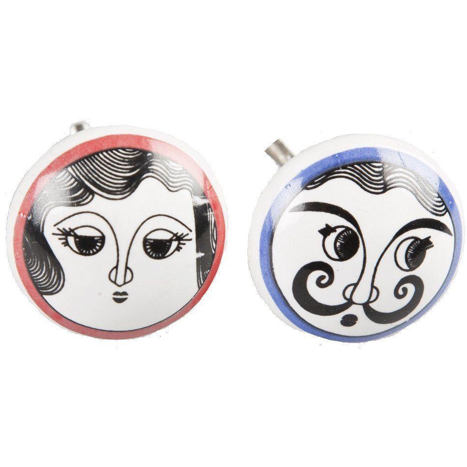 kastknoppen zwart : Madame Et Messieurs Drawer Knobs Five Little Diamonds 3