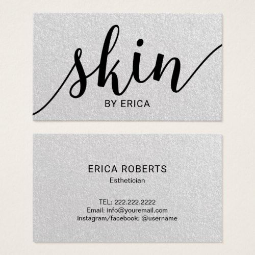 Skin care typography elegant esthetician business card business skin care typography elegant esthetician business card colourmoves