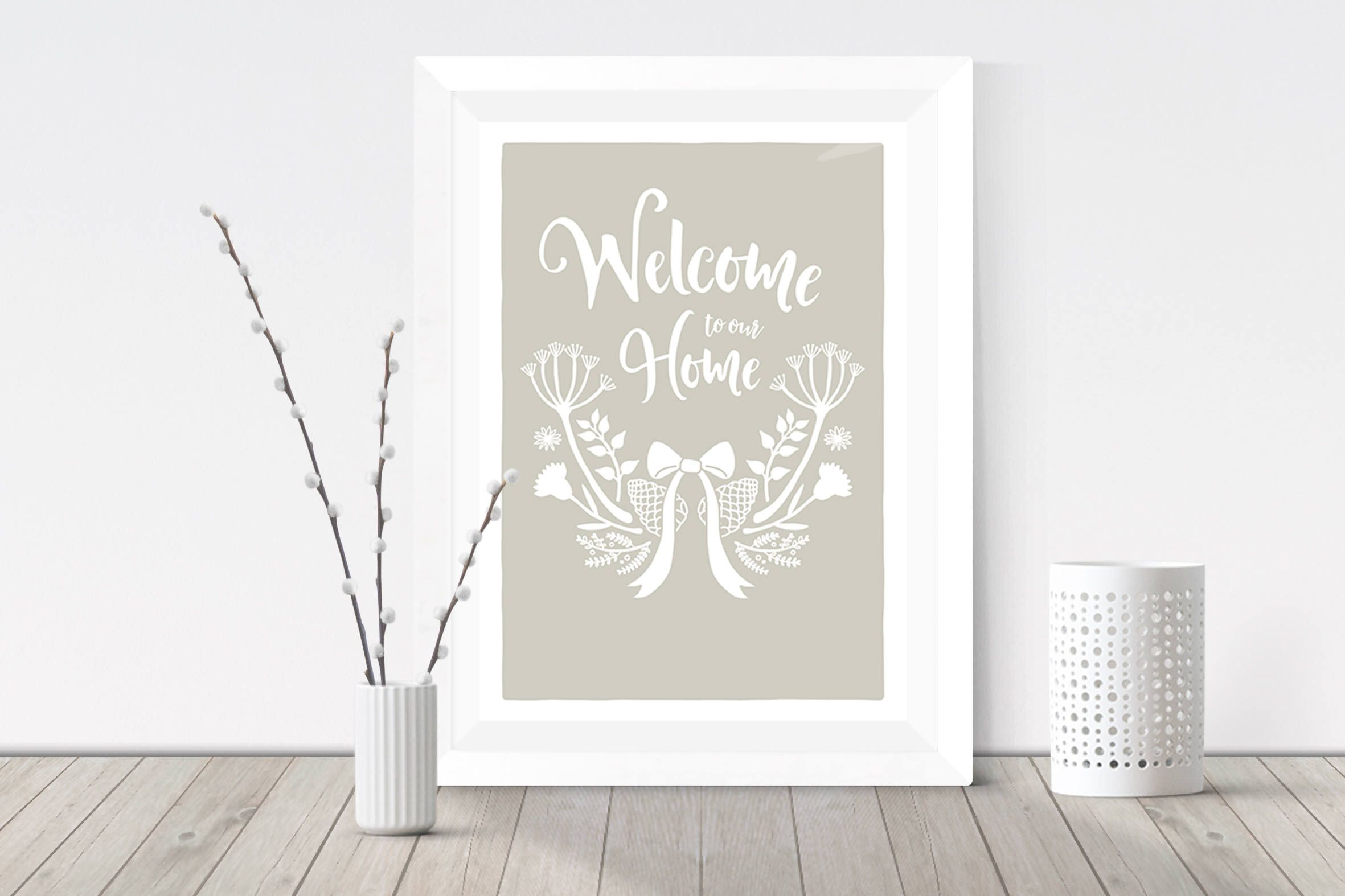 New home gift, Housewarming gift, Welcome to our home, Wildflower ...