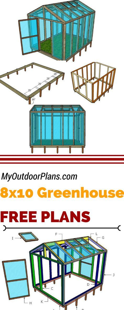 Check Out My Free 8x10 Wood Greenhouse Plans If You Want To Grow Healthy Vegetables In Your Own Garden Wood Greenhouse Plans Greenhouse Plans Diy Greenhouse