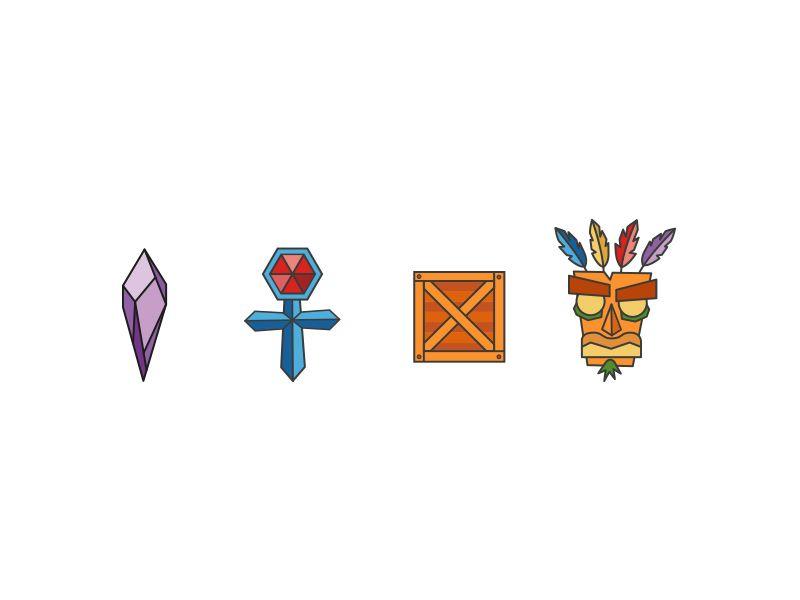 Crash bandicoot icons crash bandicoot icons and tattoo for Crash bandicoot tattoo