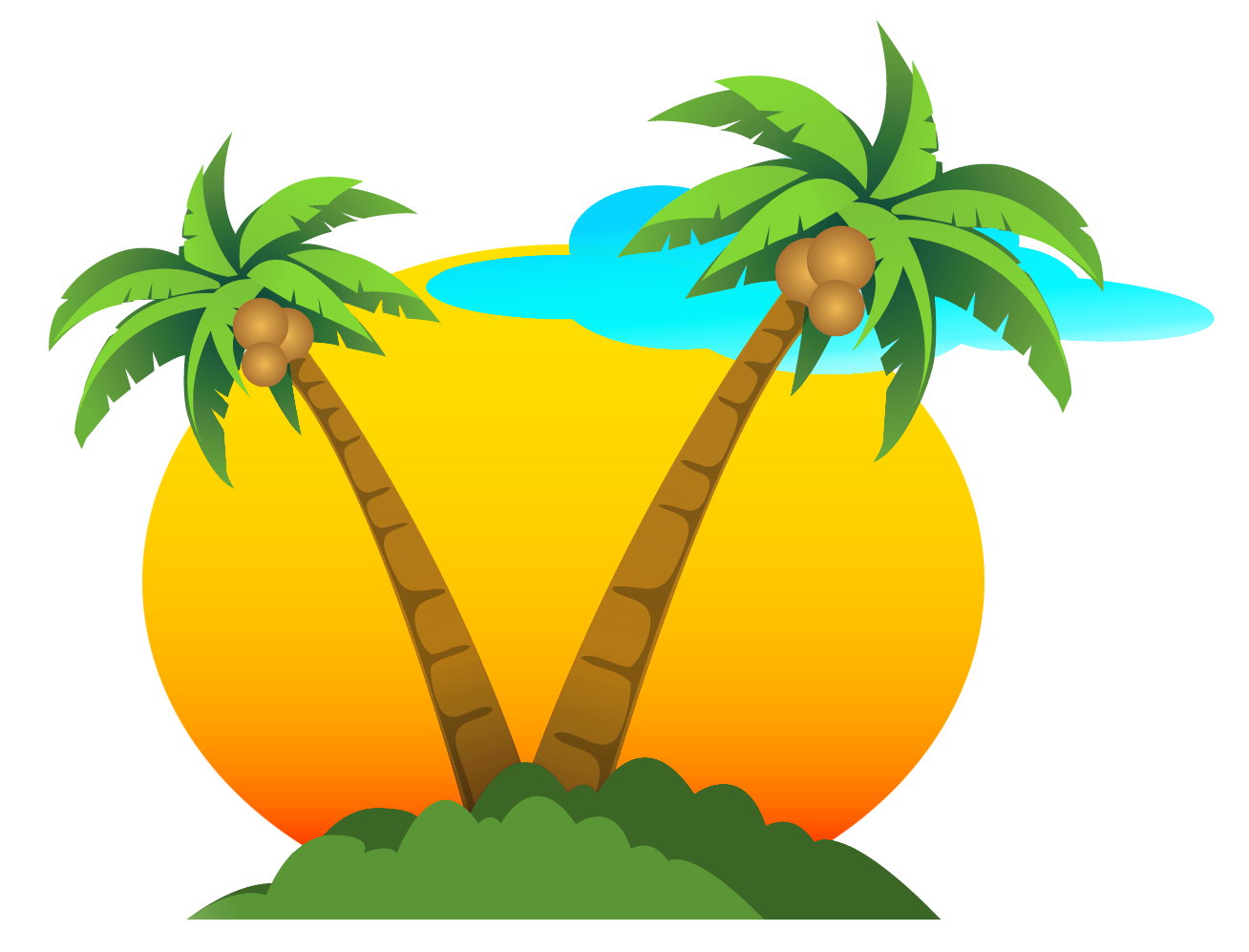 Palms and Sun PNG Vector Clipart Gallery Yopriceville