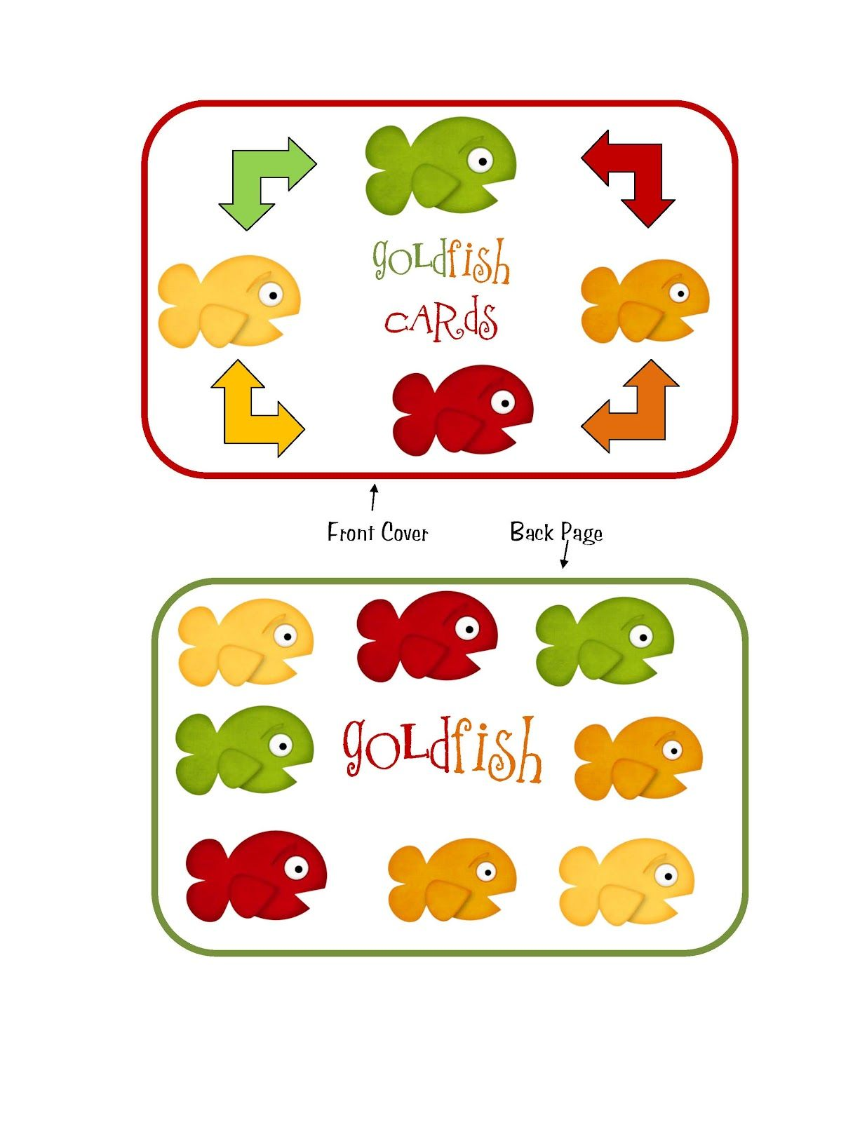 Preschool Printables Goldfish