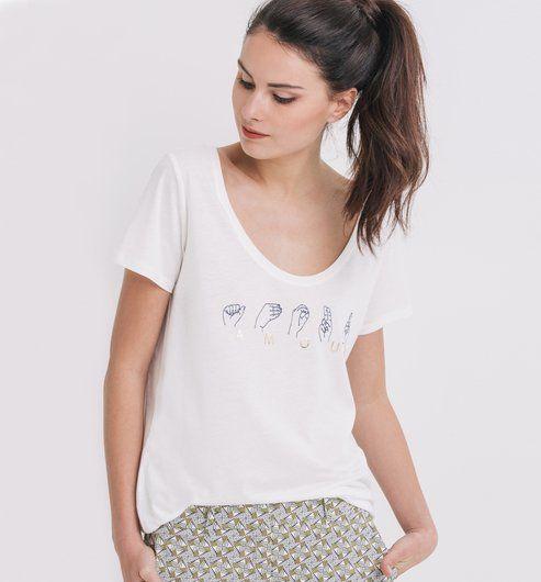 3faf3a4037771 Les tee-shirts manches courtes et tops manches courtes pour femmes sont sur  la boutique en ligne Promod   mode femme - Livraison et Retour gratuits en  ...