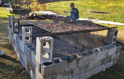 homemade large outdoor grill setup outdoor kitchen. Black Bedroom Furniture Sets. Home Design Ideas