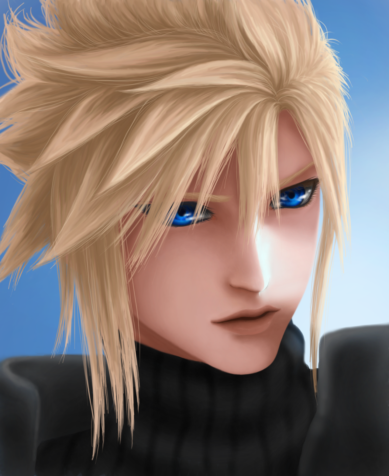 Blue And Yellow Final Fantasy Cloud Strife Cloud Strife Final Fantasy Vii Cloud