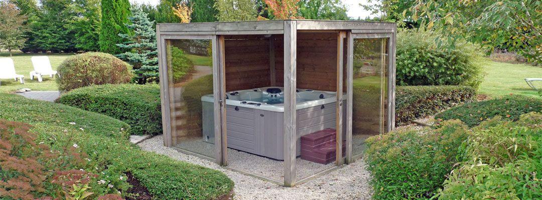 abri de jacuzzi - Recherche Google Jaccuzi à la maison Pinterest - construire une cabane de jardin en bois