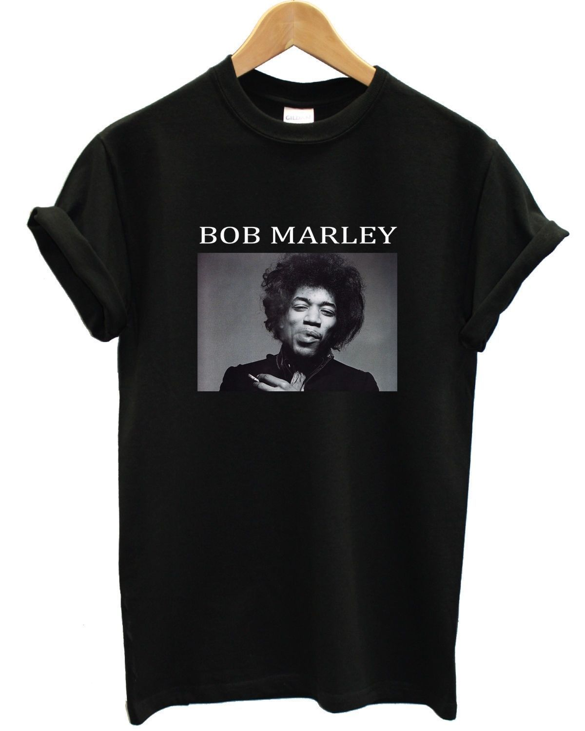 a826434b Bob Marley Jimi Hendrix T Shirt Parody Urban Fresh Funny Apparel Men Women  Kid #ebay #Fashion