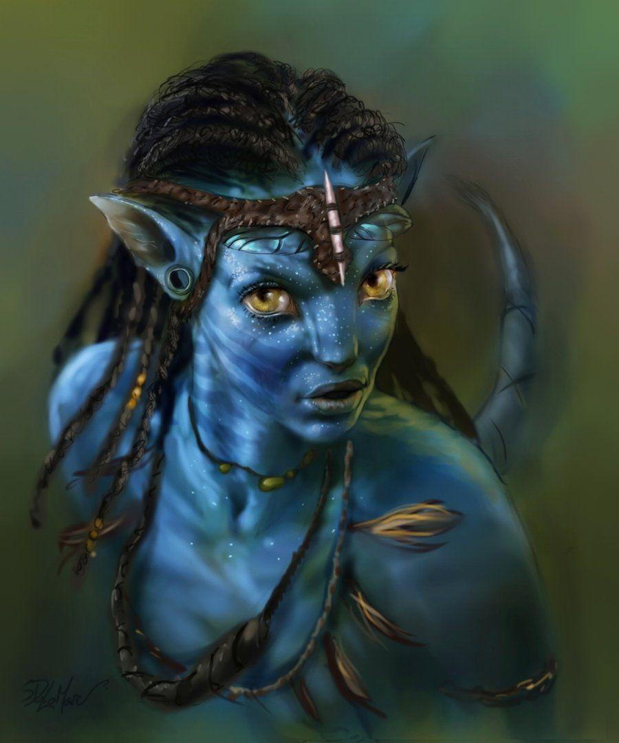 James Cameron S Avatar Logo: Neytiri Na'vi By *SteveDelamare On DeviantART...#fantasy