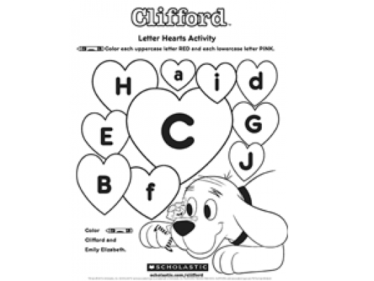 Your prescooler can help Clifford identify lowercase and