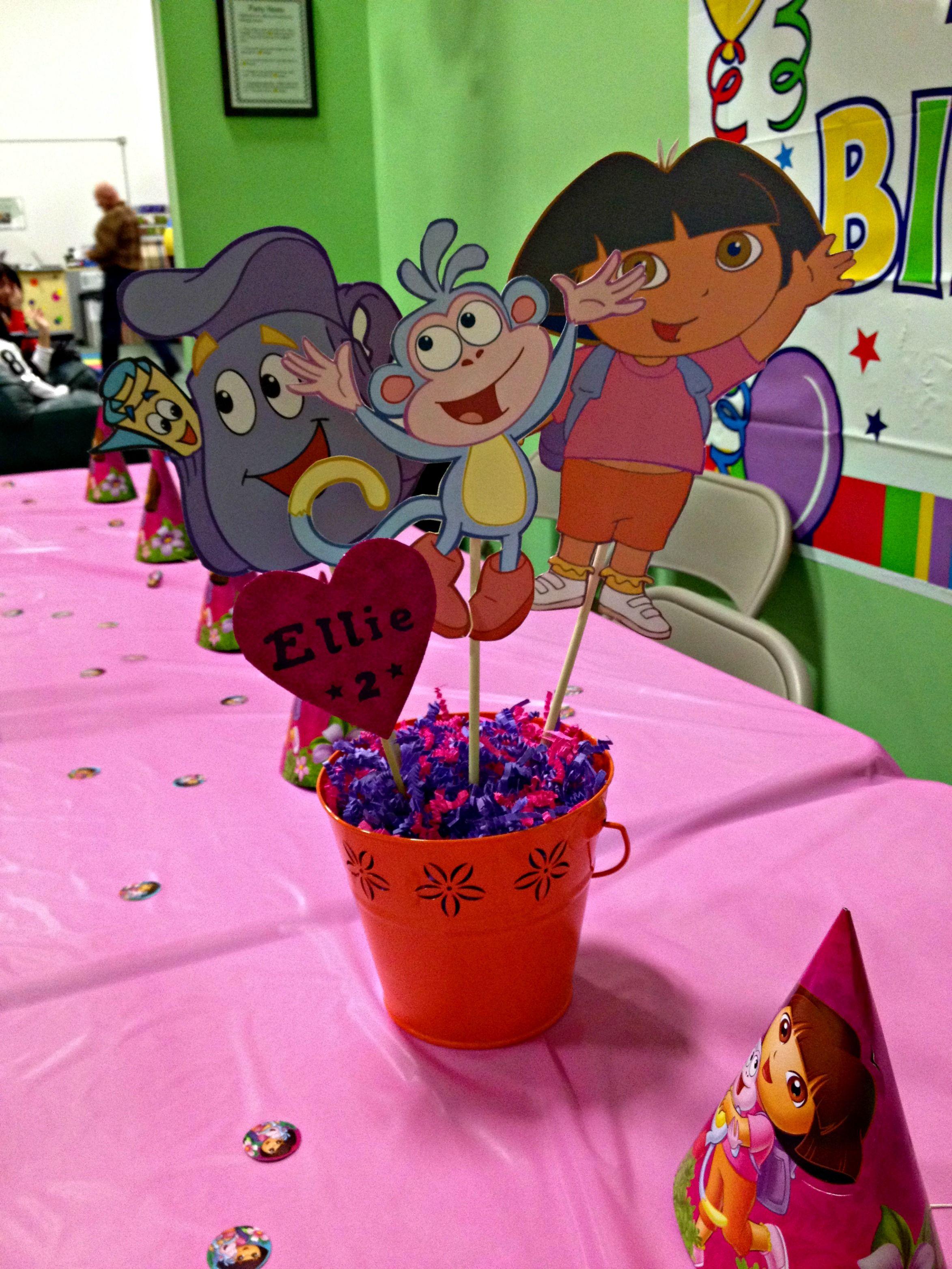 DIY Dora the Explorer centerpiece Dora the Explorer Birthday Party