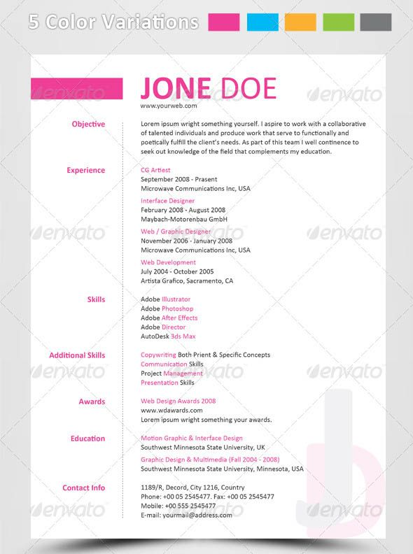 typographic resume - Google Search Resume Inspiration - google resume template free