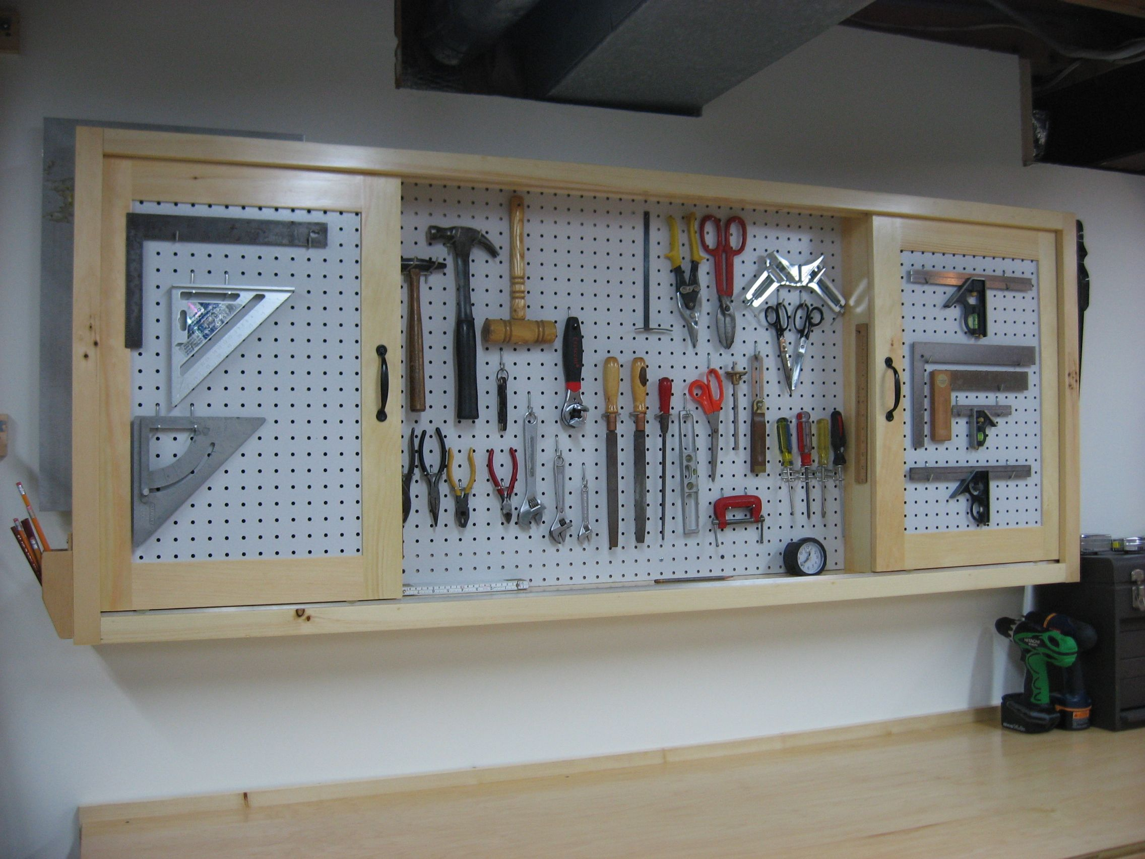 Cabinets For Workshop Workshop Pegboard Pegboard Tool Cabinet Construction For The
