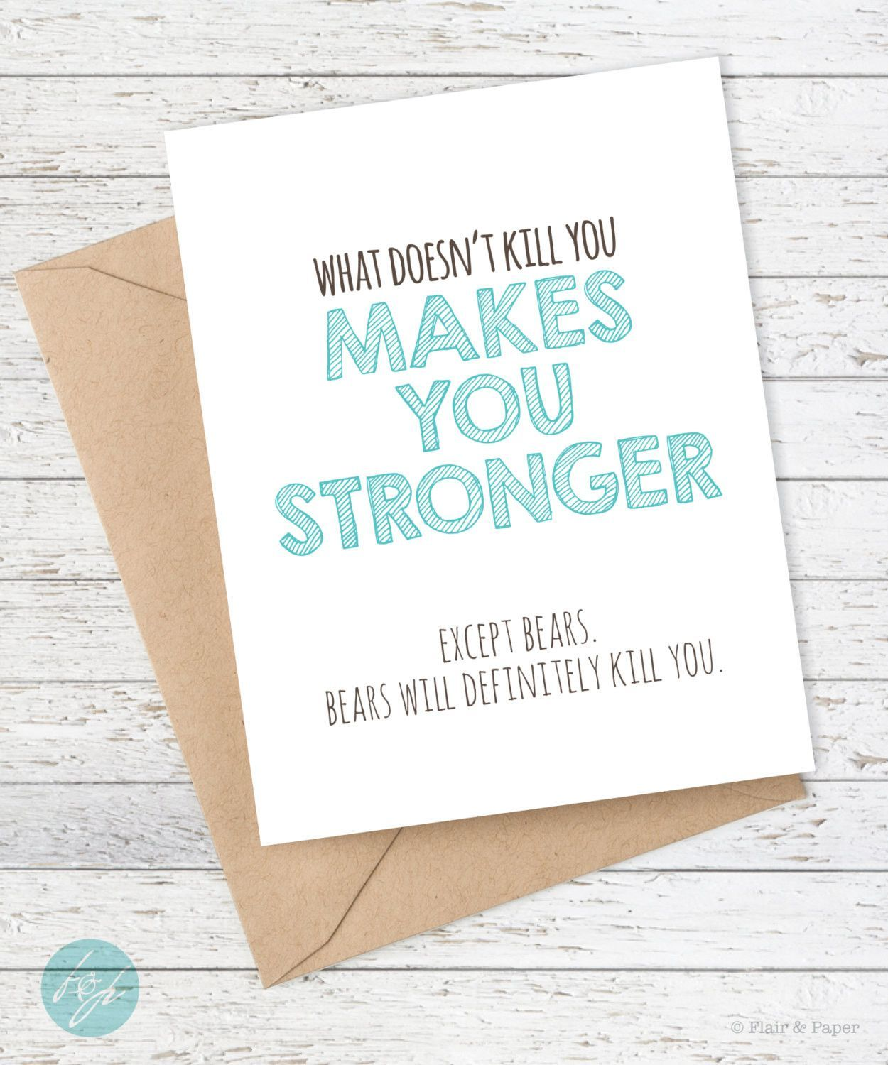 Funny card what doesnt kill you funny cards kraft envelopes funny card what doesnt kill you bookmarktalkfo Images
