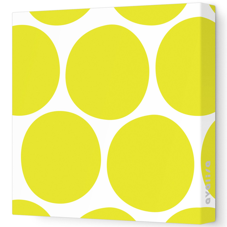 Big Dots Pattern Stretched Wall Art @Sarah Nasafi Grayce   For the ...