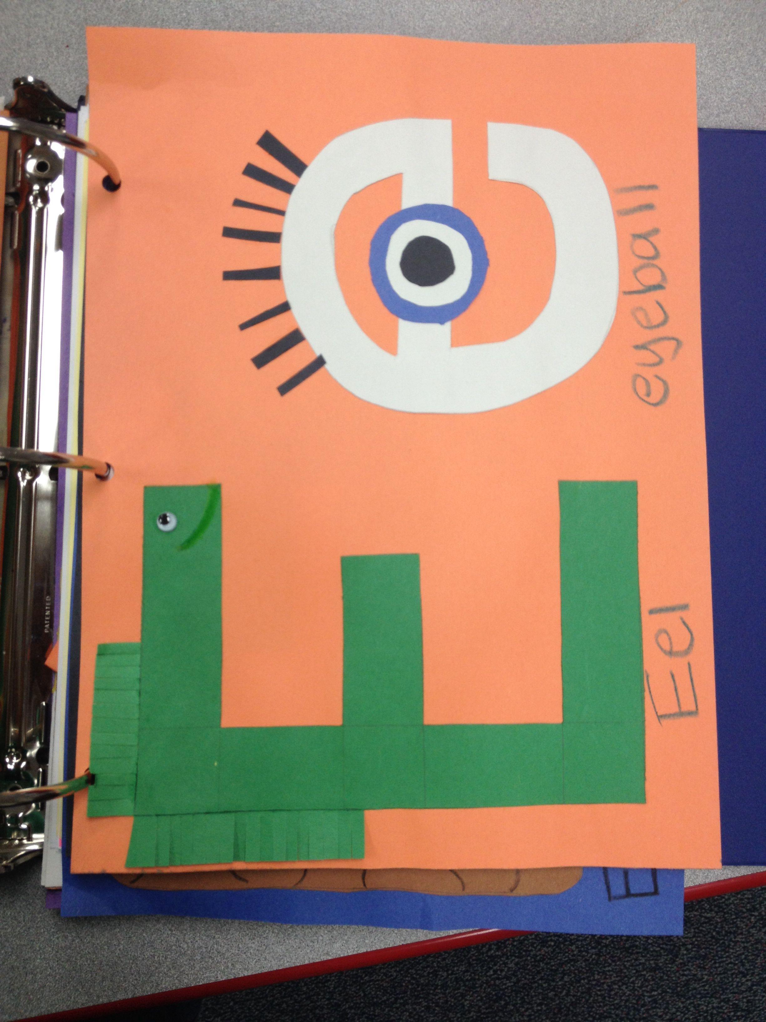 Letter E Craft Eel Eye
