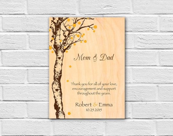 Wedding Gift For Pas Thank You Mom And Dad Wall Art Groom Bride By Flexiwood
