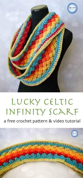 Lucky Celtic Infinity Scarf | Schals, Häkeln und Tücher