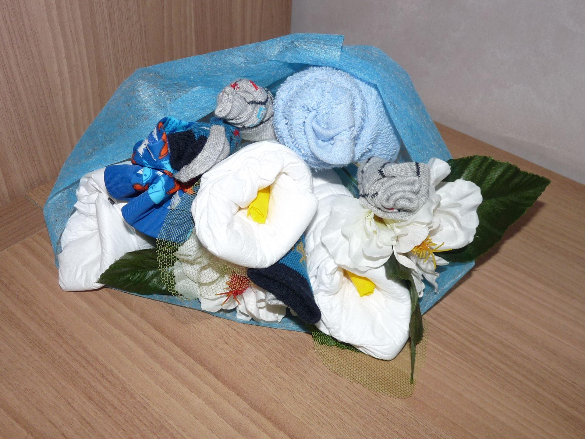 Cadeau de naissance bouquet de fleurs garçon.  Décoration pour enfants par  creationlizalou