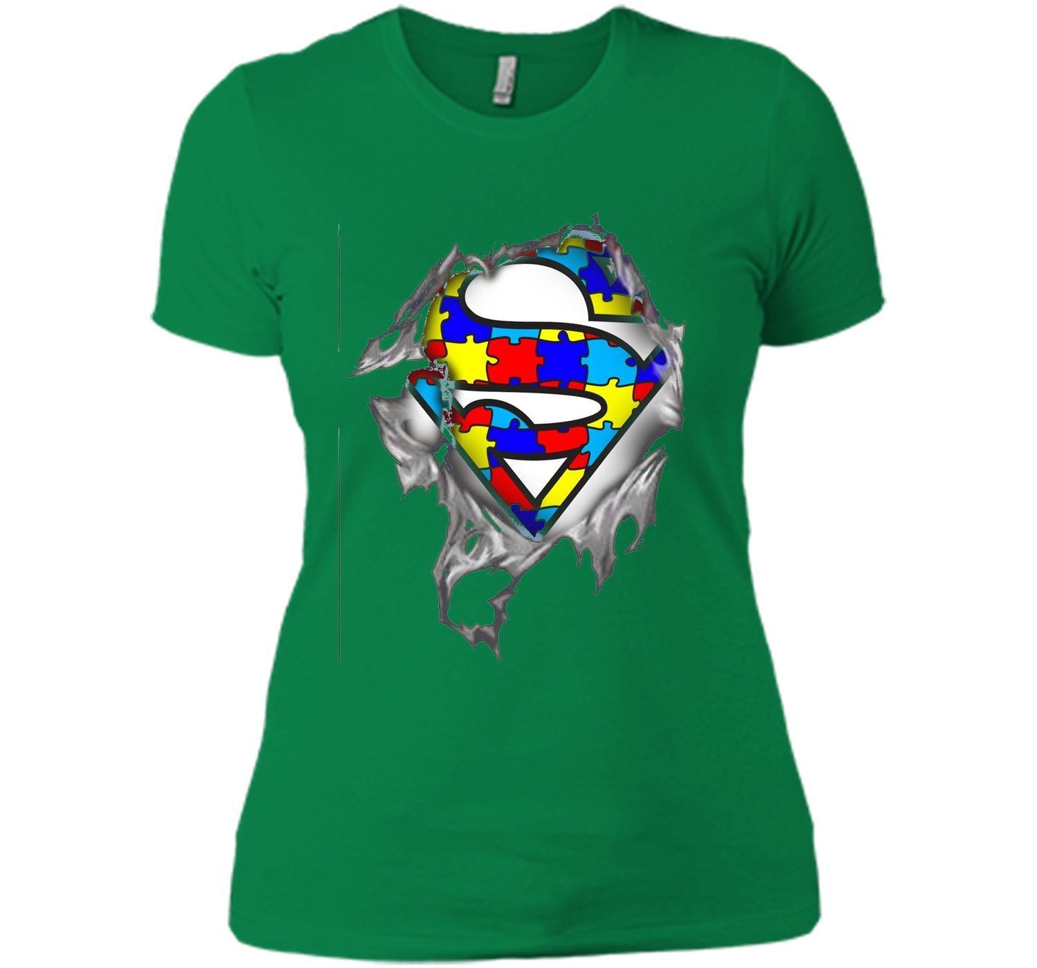 Autism Awareness Day Gifts Super Autism T-shirts color