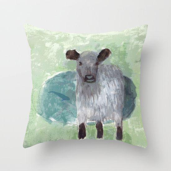 Three Legged Cow Throw Pillow