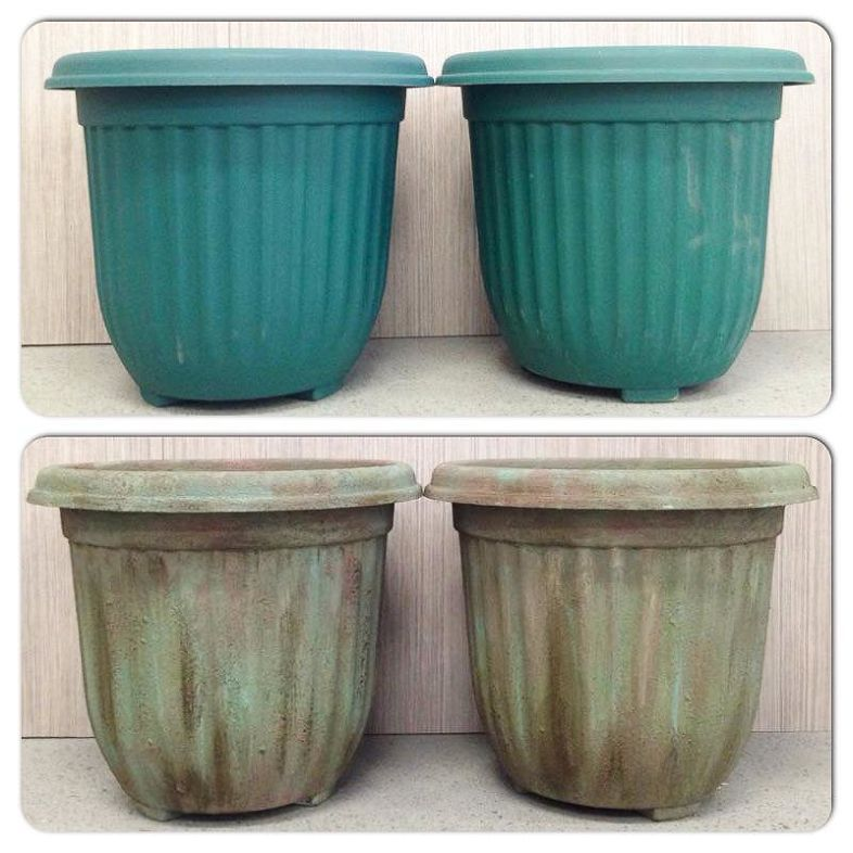 She gets ordinary plastic pots from her local gardening store and a get ready for spring with the look of antique garden pots chalk paint container workwithnaturefo