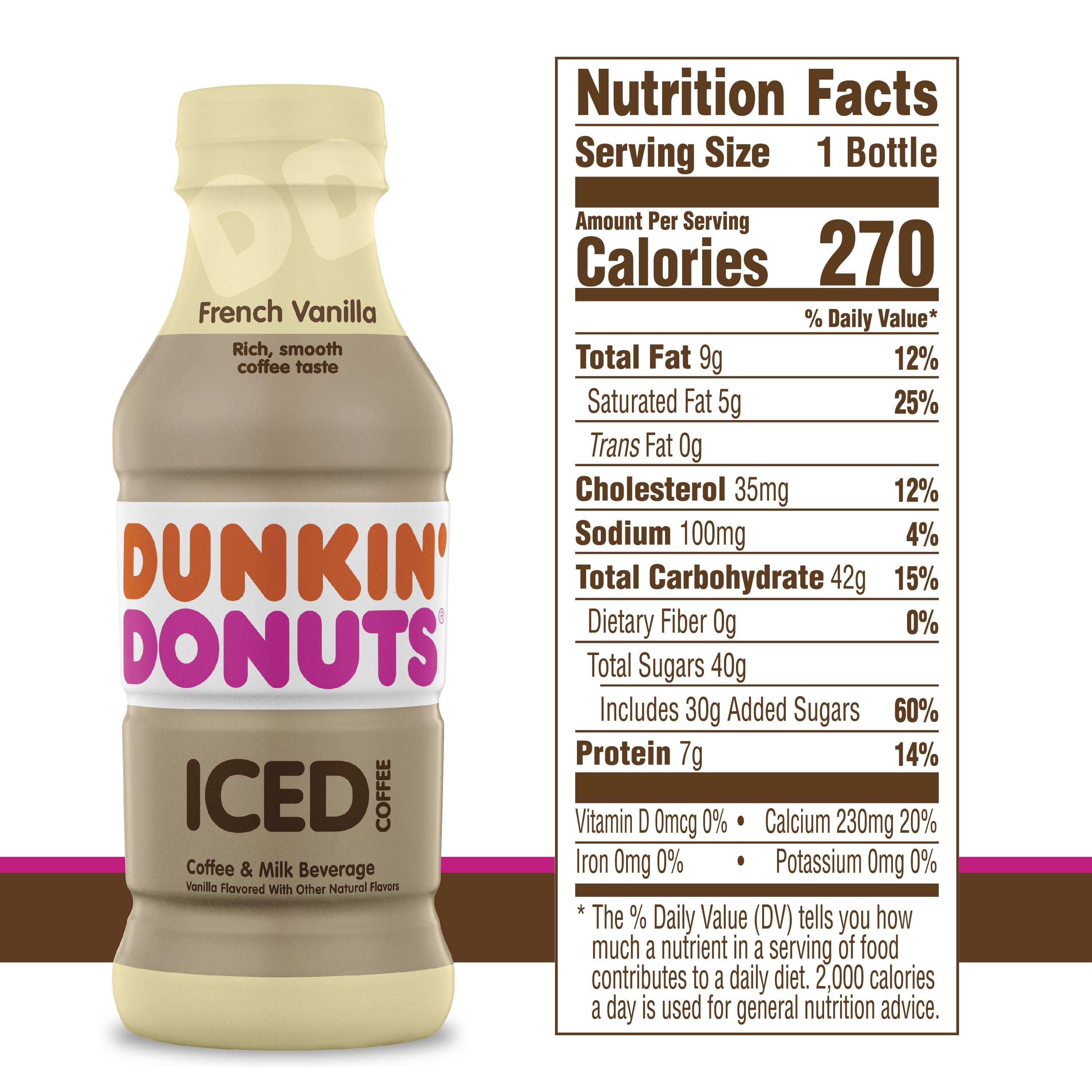 Dunkin Donuts Frozen Coffee Nutrition Information di 2020