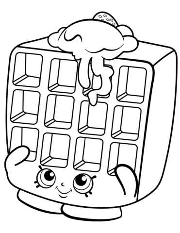 Waffle Sue Shopkin Målarbok | Delines fylla i teckningar | Pinterest ...