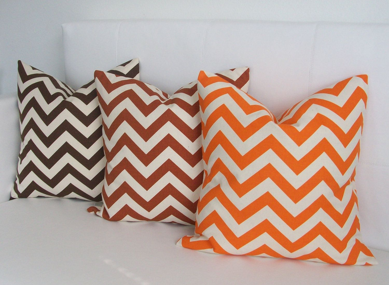 Chevron pillows in fall colors diy stencil it pinterest