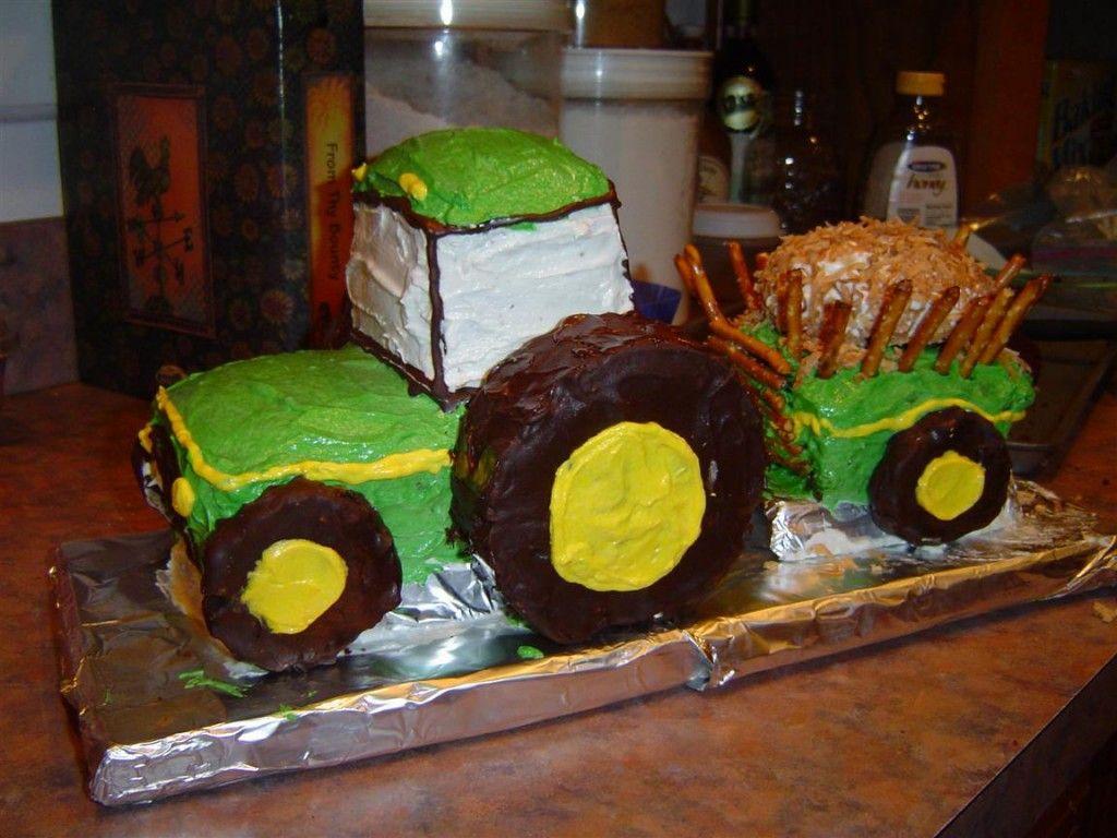 торт трактор с прицепом фото как показывает
