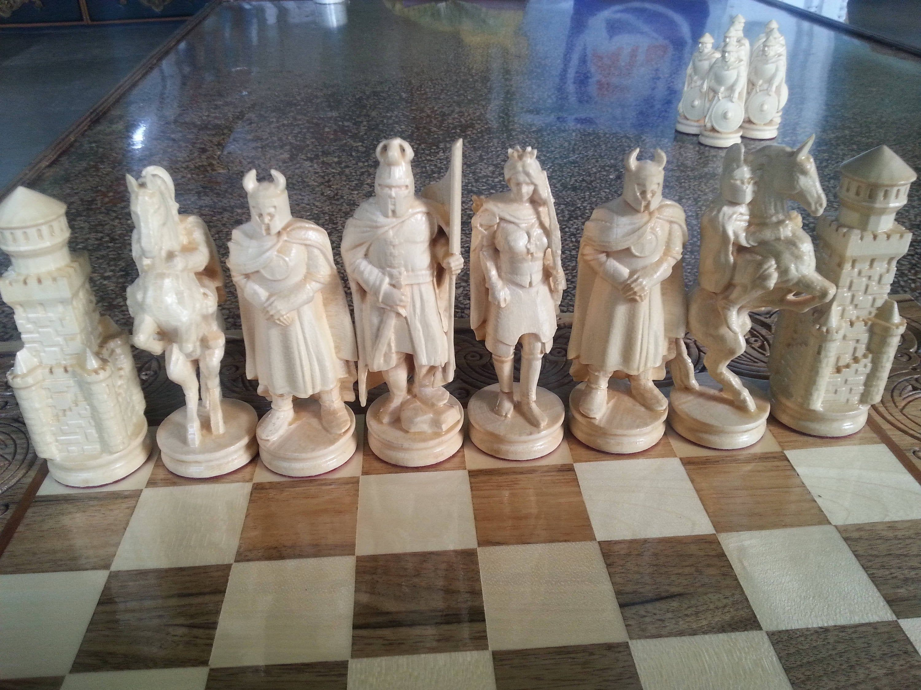 Wooden Chess Pieces Knights Exclusive Handmade Big Etsy In 2020 Chess Pieces Wooden Chess Pieces Wooden Chess